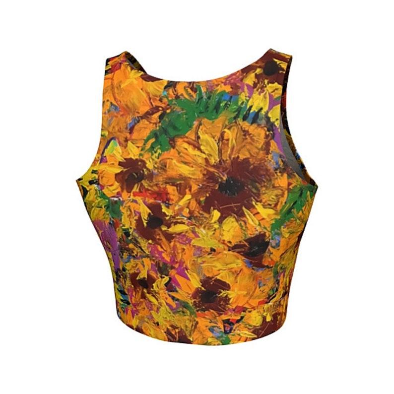 Yoga Clothing Art Gift Boho Crop Top Yoga Gift Floral Crop Top Women Workout Top Workout Clothing Athletic Clothing Wearable Art