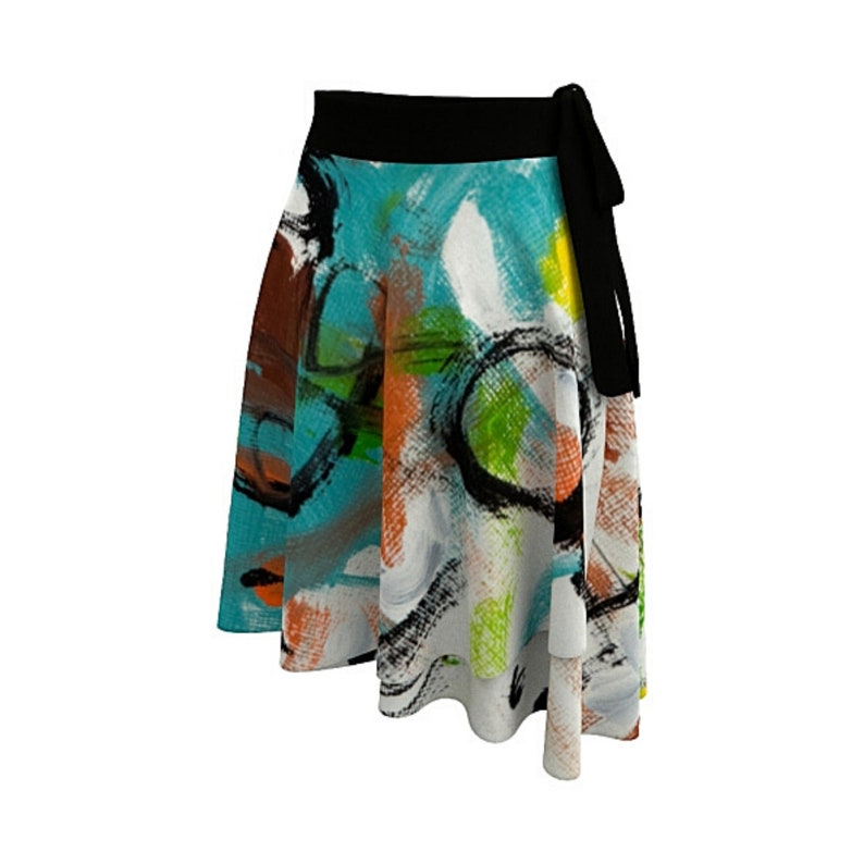 Abstract Clothing Colorful Skirt Boho Skirt Wearable Art Art Wear Wrap Skirt Art Clothing Skirt for Women Casual Clothing