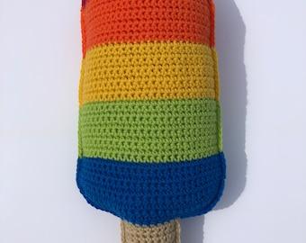 Crochet Popsicle Pillow, Kawaii Cuddler