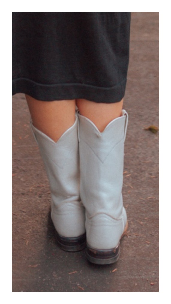 White Justin Cowboy Western Boots || Urban Cowgir… - image 3