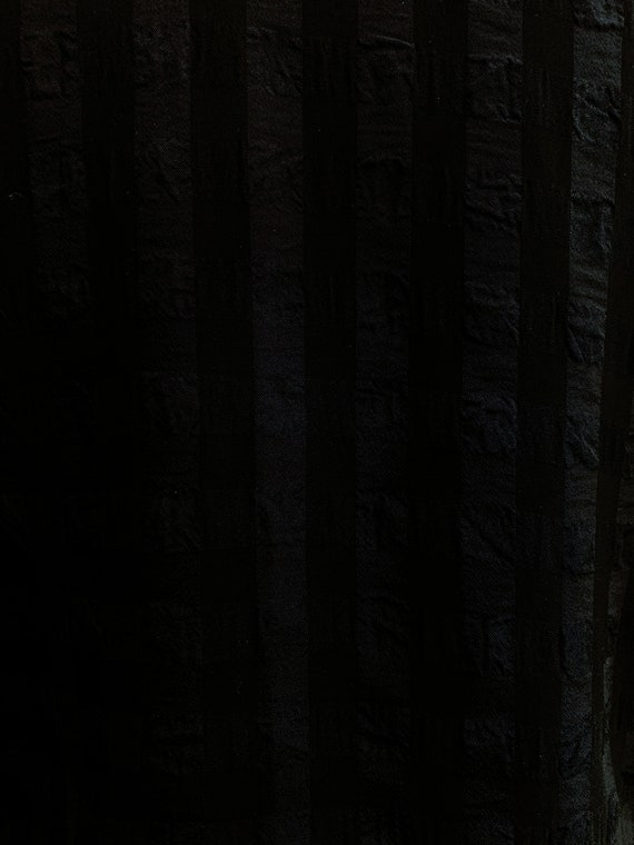 Vintage Nineties Black Sheer Chiffon Gingham Mini… - image 4