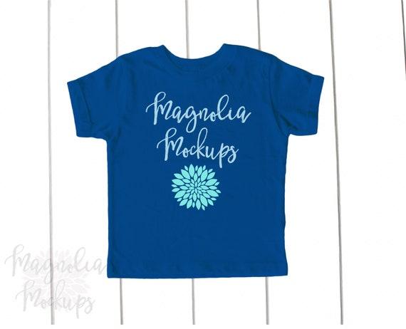 Royal Blue Toddler T Shirt Mock Up Youth Kids Flat Lay Etsy