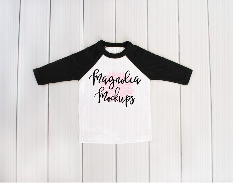Black And White Baseball Raglan Shirt Mockup Tshirt Mockup Etsy