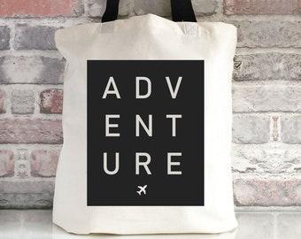 Simple Wave  Canvas Bag  Surf Travel  Wanderlust Adventure  Bag For Life