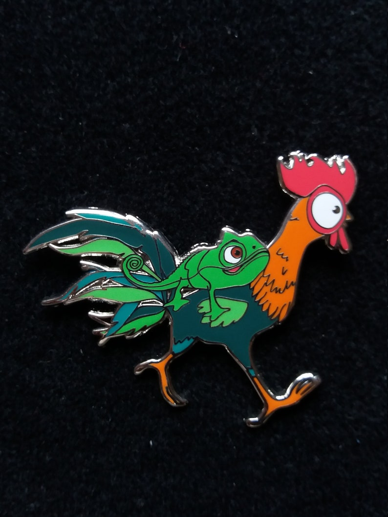 Pin Disney Fantasy  Hei Hei with Pascal from rapunzel   Boom image 0