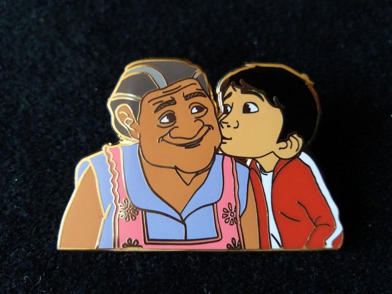 Disney Fantasy Pin  Miguel kissing Abuela   Coco Film image 0