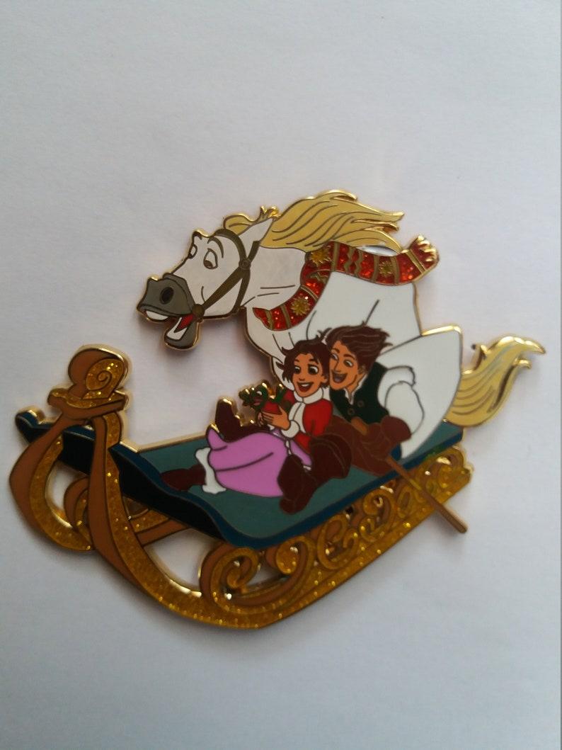 Pin Disney Fantasy Frozen Anna Kristoff Maximus Olaf Sleigh image 0