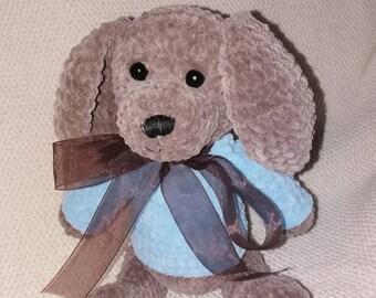 Plush dog, Amigurumi dog, Zephyr dog, Eco toy, Crochet dog, Crochet puppy, Crochet toy, Brown dog, Stuffed animal, stuffed dog
