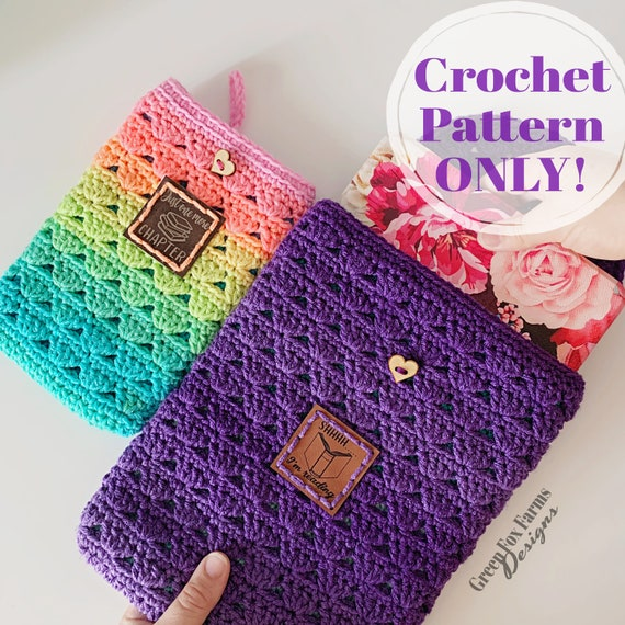 Book Sleeve Crochet Pattern Ereader Case DIY Bible Cover