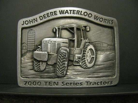 *John Deere 7000 Ten Ser 7810 7710 7610 7410 Tractor Belt Buckle 1996 Waterloo