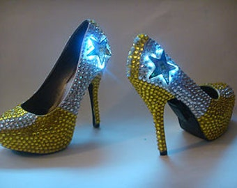 Custom Bling LED lights Prom Wedding Shoes Glossy Remix   Etsy