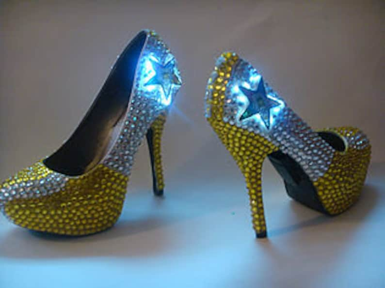 bd17b7a8c105 Custom Bling LED lights Prom Wedding Shoes Rhiney