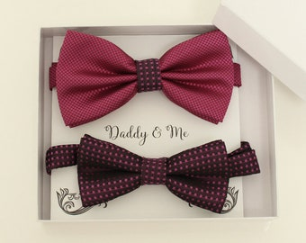 d586f958e36c Magenta bow tie set for daddy and son, Daddy and me gift set, Father son  matching, magenta kids bow tie, daddy me bow, handmade bow tie