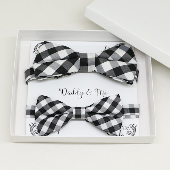High quality Red Bow tie set for daddy son Daddy me gift set Father son match daddy me bow Handmade kids bow Adjustable pre tied bow