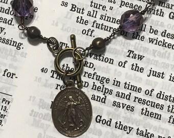 St. Michael the Archangel Catholic Beaded Bracelet