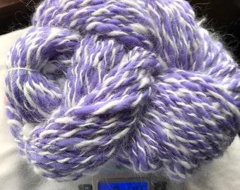 Hand spun angora blend yarn
