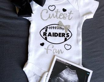 Las Vegas Raiders Watching With Grandpa Baby Short Sleeve Bodysuit