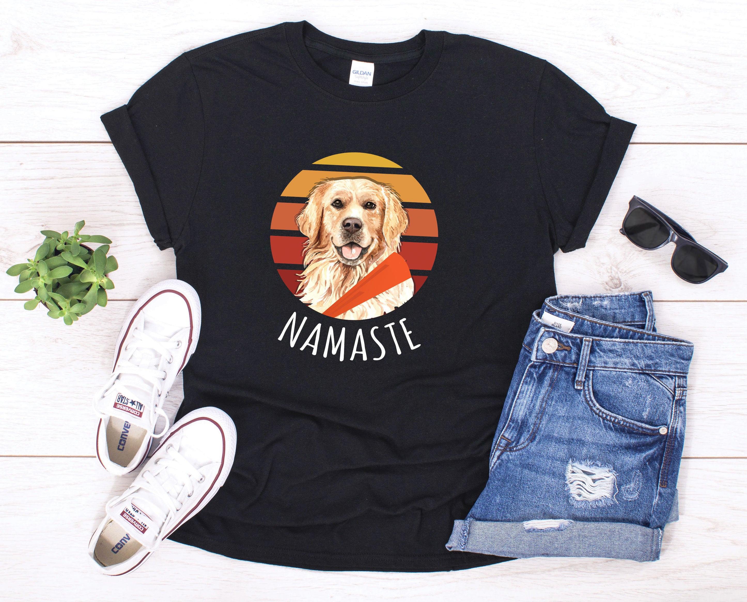4th of July Patriotic Dog Golden Retriever Navy Adult T-Shirt