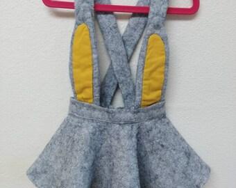 Girls skirt   Girls modern skirt with shoulder straps   size 3t   toddlers girls skirt