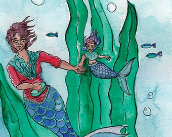 The Grand Mermaid Giclée Art Print