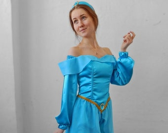 Princess Jasmine. Animator-actor suit/Cosplay/Masquerade costume  sc 1 st  Etsy & Jasmine cosplay | Etsy