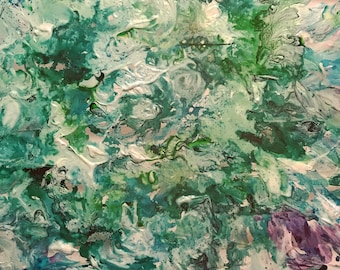 Abstract Mixed Media Painting - Large Scale Canvas - Depth