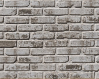 Sample Dirty White Faux Brick Wall Panel