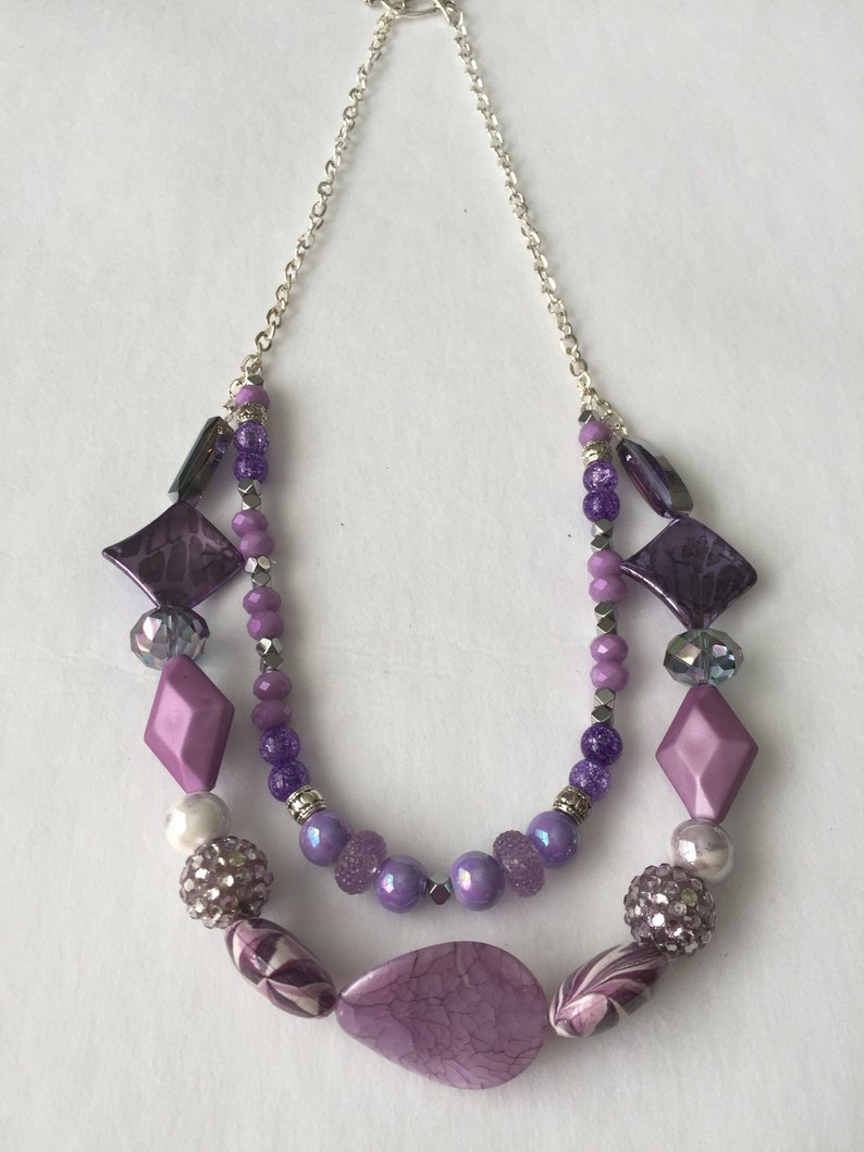Lavender Layered Necklace Set