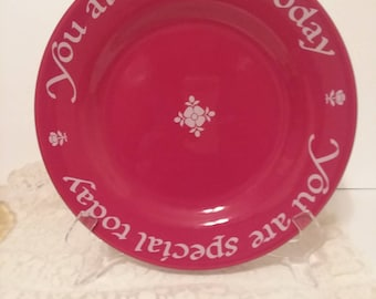 You are special today.Red plate special. Woud make a nice gift.