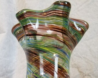 Glass hand blown teardrop vase