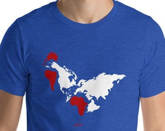 fea52d50 Rooster Earth Society Tee Funny Flat Earth is Rooster T Shirt Mens Womens  Unisex