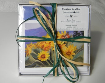 Greeting cards, Montana themes, boxed cards