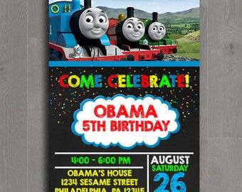 Thomas The Train Birthday Invitation, Thomas The Train Birthday, Thomas The Train Invitation, Thomas The Train Party, Digital Invitation