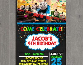 Thomas The Train Birthday Invitation, Thomas The Train Birthday, Thomas The Train Invitation, Thomas The Train Party, Thomas The Train Card