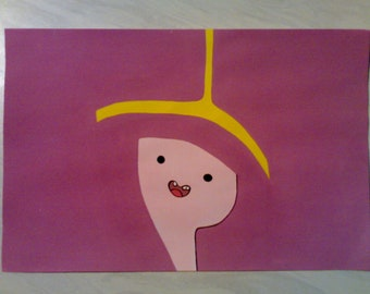Princess Bublegum - An Original Adventure Time Painting By R.McCutcheon