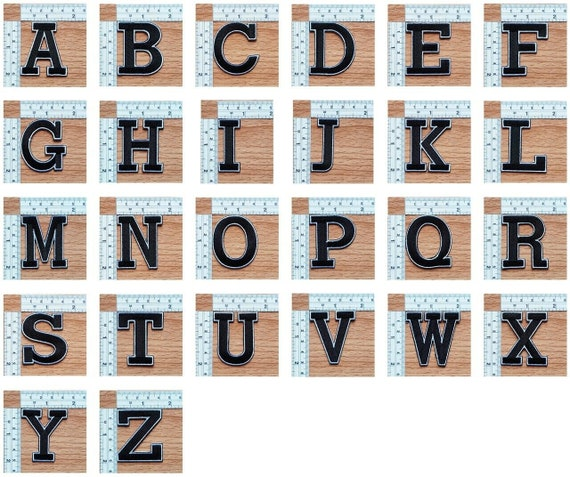 EMBROIDERED LACE APPLIQUE ALPHABET choose A-Z  **NEW**