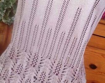 Frost Flowers Camisole -  Machine Knitting Pattern by Janine Shepherd