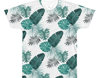 T-Shirt All Over Print Tropical Exotic Print Jungle