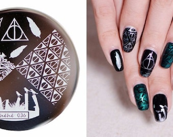 Nail Art Stamping Plates Image Plate Decoration HP Halloween Hehe36