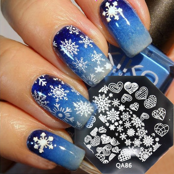 Image result for Nail Art Stamping christmas