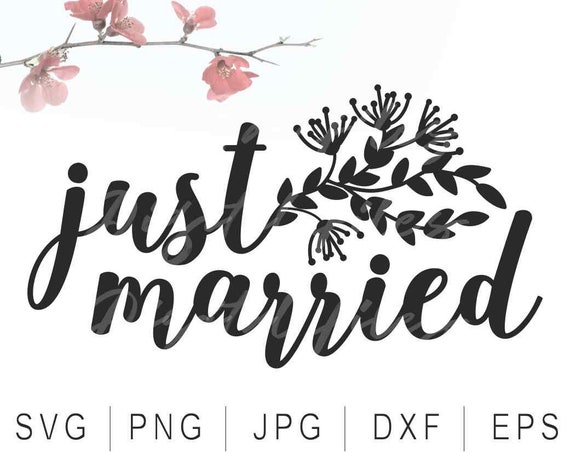 just married svg digital product wedding signs svg wedding etsy