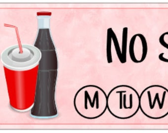 No Soda/No Fizzy Pop Sticker - Habit Tracker - Weekly Planning
