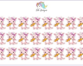 DeeDee the Pink Dragon Breathing Fire - Character Sheet