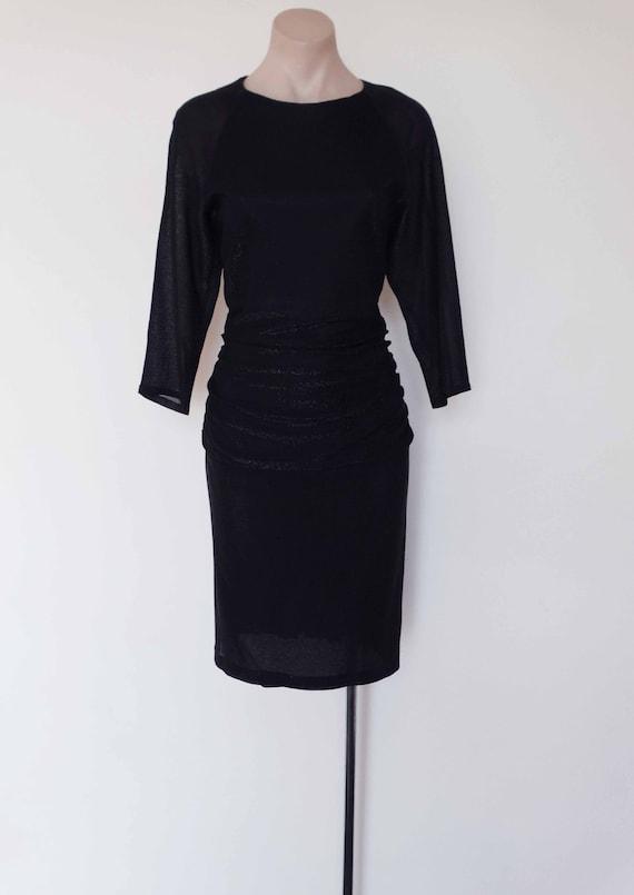 Vintage Cocktail Dress Vintage Party Dress Vintage 1980s Black Evening Dress Cattiva New York Vintage Black Tie Event Dress