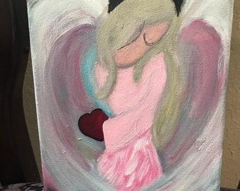 Angel heart painting