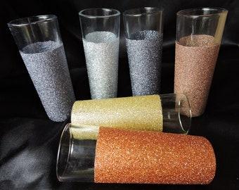 Set of 6 Metallic Glitter Shooter Glasses