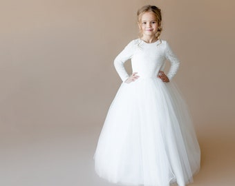 55ab7859860 Ivory flower girl dress Junior bridesmaid dress Toddler sequins girl dress  Baby girl dress Special occasion Wedding dress Girl dress pattern