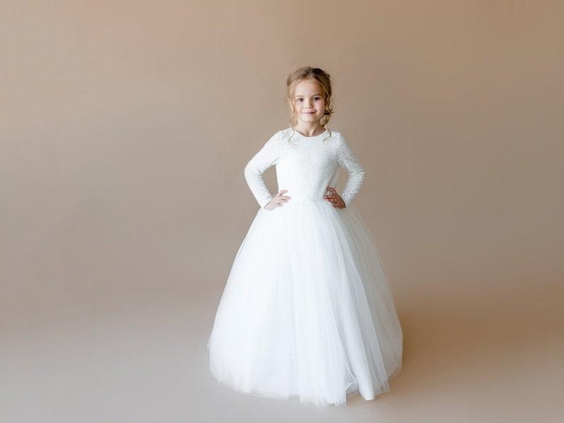 9d43567f6 Ivory flower girl dress Junior bridesmaid dress Toddler