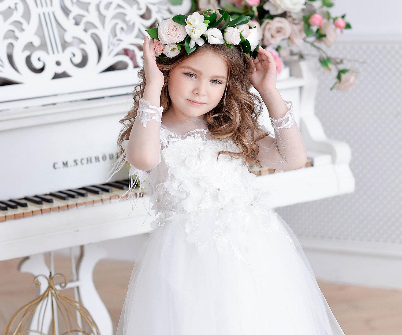 f3d9d42e0e9 Ivory Flower Girl Dresses For Toddlers