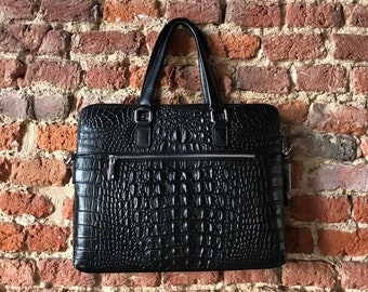 Bag mixed leather